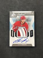 2015-16 SP GAME USED NOAH HANIFIN ROOKIE INKED SWEATERS AUTO PATCH #ed 36/49
