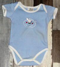 💗 Superbe Body MC bleu ciel garçon 3 mois 62cm 💗 FIC12