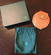 BNIB RARE FANTASTIC ROLEX DOUBLE MIRRORS LEATHER POUCH BOX COLLECTIBLE 1970-1980