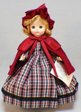 """Madame Alexander 14"""" Molly Doll and Tagged Outfit with Hat and shoes plaid dress"""