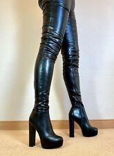 High Heels Plateau Stretch Stiefel Damen Männer Boots EU42 UK8 US11 15/3cm Heels