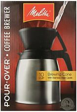 Melitta Coffee Maker, 10 Cup Pour- Over Brewer with Stainless Thermal Carafe , N