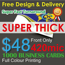Business cards ebay 1000 business cards full colour printing front only on 420mic paperfreedesign reheart Gallery
