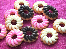 6Pcs Giant Iced Biscuit Cookie Ring Mixed Flatback Cabochon Craft DIY Decoden