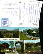 585043,Mehrbild Ak Latschach Faaker See Aichwaldsee Ruderboot Finkenstein am Faa
