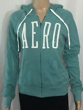 Aeropostale Zip Front Hoodie Juniors Size XS Seafoam Slim Fit Long Sleeve NWT