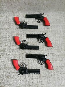 PILAZ TOYS F2 Super gun Cowboy Lot x 2 New no box Metal Made in Greece 80s Greek