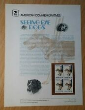 # 113 15c SEEING EYE DOGS # 1787 USPS COMMEMORATIVE STAMP PANEL MINT BLOCK