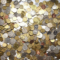 Konvolut - Kiloware - Nur exotische Münzen aus Welt - 1 KILOGRAMM - 1 Kg - LOT