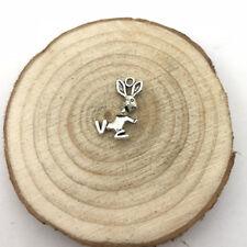6Pcs Bunny Rabbit Charm Tibetan Silver Tone Pendant  Charms Pendants 11x19mm