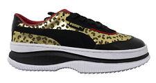 Puma x Deva Charlotte Schwarz Leopard Leder Niedrig Schnürschuhe Damen Sneaker 371409