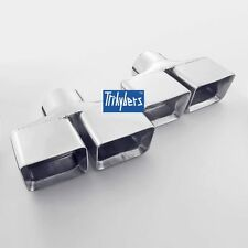 """Pair 3"""" inlet dual square rectangle exhaust tips for Dodge Challenger"""