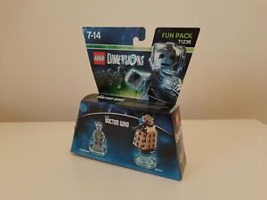 Lego Dimensions Doctor Who Cyberman + Dalek Fun Pack 71238 - Complete  With Box