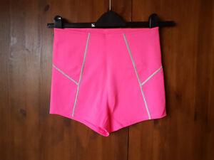 RRP $58 - FREE PEOPLE HOT PANTS Pink Yoga Gym Shorts S / UK 8 / 36 - NEW