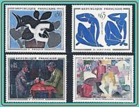 FRANCE 1961 famous PAINTINGS SC#943-49 MNH ** CV$14.40 MATISSE, CEZANNE, BRAQUE