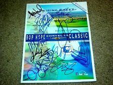 Multi Celebrity Autographed Bob Hope Golf Pairing Sheet   COA