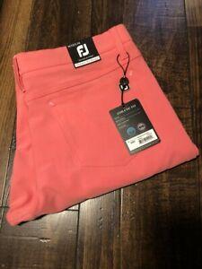 FootJoy Athletic Fit Pants Men's Golf Pants Coral 33/34 Item #24463 Sold Out!