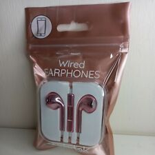 Earphones Wired EarPods for Phone, Tablet, PC, Mac -Rose Gold