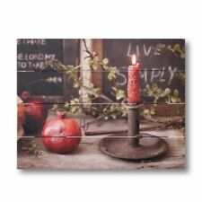 LIVE SIMPLY handcrafted wood Pallet art print / Nice