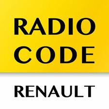 Renault Radio Unlock Code - Clio Grand Kangoo Laguna Megane Scenic Traffic 5 min