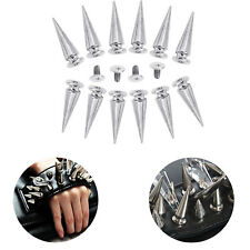 10mmx29mm Spike Cone Silver Screw Punk Studs Rivet For Leather Clothes Craft DIY