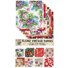 "Paper 24sh 6""x6"" # Retro Christmas Vintage Santa # FLONZ Craft Scrapbooking 036"