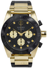 Electric DW01 SS Watch - Black / Gold - New