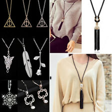 !! Pendant Necklace Crystal Long Sweater Chain Choker Clothes Accesories Jewelry