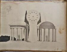 LAVIS-ENCRE-PLAN-PROJET-ARCHITECTURE-PALAIS-DEMEURE-R. VITTE-ATELIER-13-