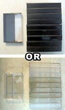 🎶 Lot of 10 Empty Audio Cassette Tape Case: Clear or Black:  hard plastic 🎶