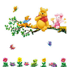 Winnie the Pooh Tree Branch Wall Sticker Decal Kids Room Decor Removable DIY