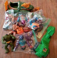 original/vintage He-man MOTU action figure parts lot