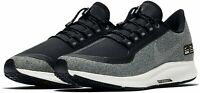 WOMENS NIKE AIR ZOOM PEGASUS 35 SHIELD - UK 3.5/US 6/EUR 36.5 - GREY/BLACK/WHITE