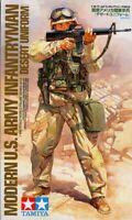 Tamiya 1:16 Modern US Army Infantryman Desert Uniform Plastic Figure Kit #36308U