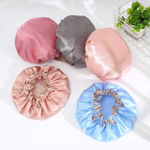 Luxury Women Bath Shower Cap Elastic Reusable Salon Hat Protector Waterproof