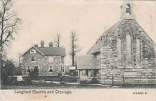 Somerset Postcard - St Mary's Church, Langford and Vicarage c.1905