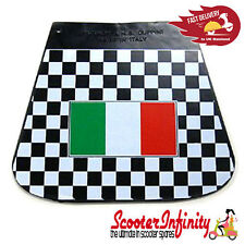 Mudflap Black White Check Chequered Italian Flag (Universal Fit) VESPA LAMBRETTA