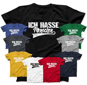 ICH HASSE Menschen Shirt Fun T-Shirt Spruch Arbeit Firma Beruf Vater Geschenk