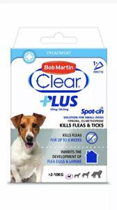 Bob Martin Clear Plus Spot-On Flea Treatment - 1 Pipette (Small Dogs 2-10kg)