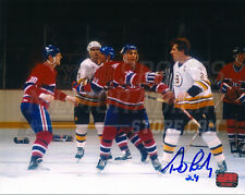 Terry O'Reilly Boston Bruins Signed Autographed Fight Ready Chris Nilan 8x10