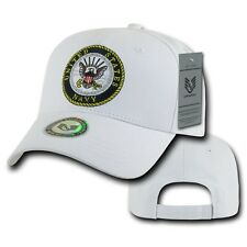 White United States US Navy USN Cotton Military Baseball Ball Cap Hat Caps Hats