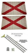 3x5 St. Patrick's Cross 2ply Flag Galvanized Pole Kit Eagle Top 3'x5'