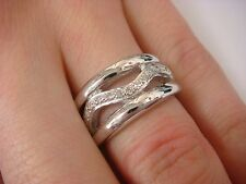 EXCLUSIVE RUSSIAN ORIGIN LADIES DIAMOND BAND-RING, 8 GRAMS, APPROX. 0.20CT T.W.