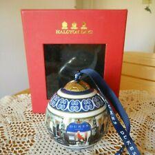 Rare Halcyon Days Dukes London Ornament In Box ~ Unused ~ Halcyon Xmas Ornament