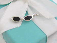 New Tiffany & Co Silver Picasso Sunglasses Charm For Necklace Bracelet Box Pouch