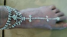 Sexy One Size Wedding Slave Anklet Chain With Toe Ring Anklet Jewelry