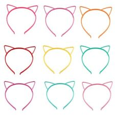 10pcs Girls Simple Headband Plastic Cat Ear Hair Band Cosplay Party Accessories