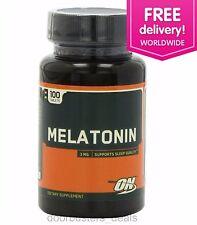 Optimum Nutrition Melatonin 3 mg sleeping aid 100 Tablets - Free Shipping Int'l