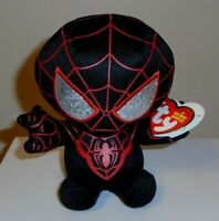 """Ty Beanie Baby 6"""" (Marvel) MILES MORALES - SPIDER-MAN NEW MWMT Plush Stuffed Toy"""