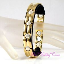 Magnetic Power Tungsten Arthritis Sports Health Mens Ladies 24K Gold PL Bracelet